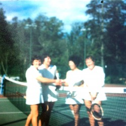 Eunice Gibb, Isabel Heaman, Sylvia Fong, Evelyn Samuel ca. 1974