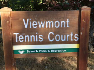 Viewmont tennis courts sign